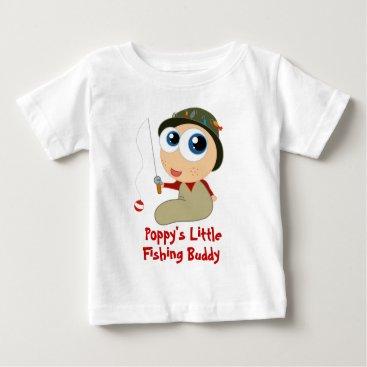 Toddler & Baby themed Poppy s Little Fishing Buddy Baby T-shirt