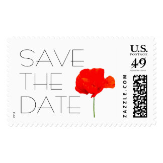 Poppy Save the date Customizable Postage