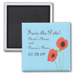 Poppy Save the Date Magnent Refrigerator Magnet