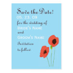 Poppy Save the Date Post Card