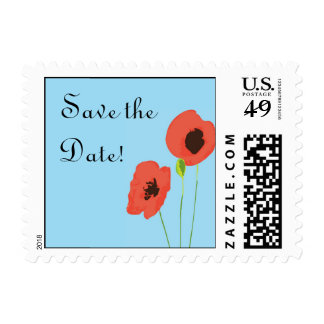 Poppy Save the Date Postage