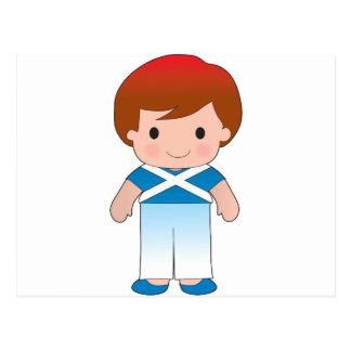 Poppy Scotland Boy Postcard