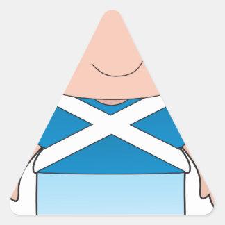 Poppy Scotland Boy Triangle Sticker