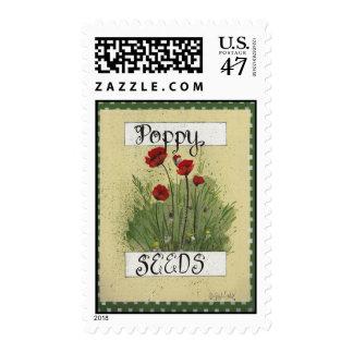 Poppy Seeds Fun Flower Seed Packet Postage
