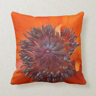 Poppy Seeds Throw Pillow