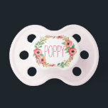 "&quot;Poppy&quot; Simple &amp; Elegant Personalized Name Pacifier<br><div class=""desc"">Poppy</div>"