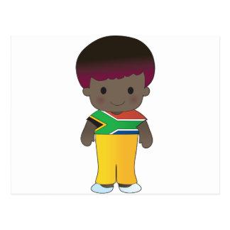 Poppy South Africa Boy Postcard