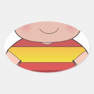 Poppy Spain Boy Oval Sticker