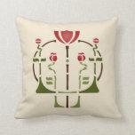 Poppy Stencil Pillow