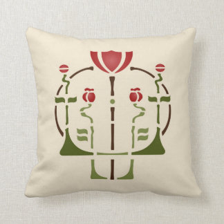 Poppy Stencil Throw Pillow