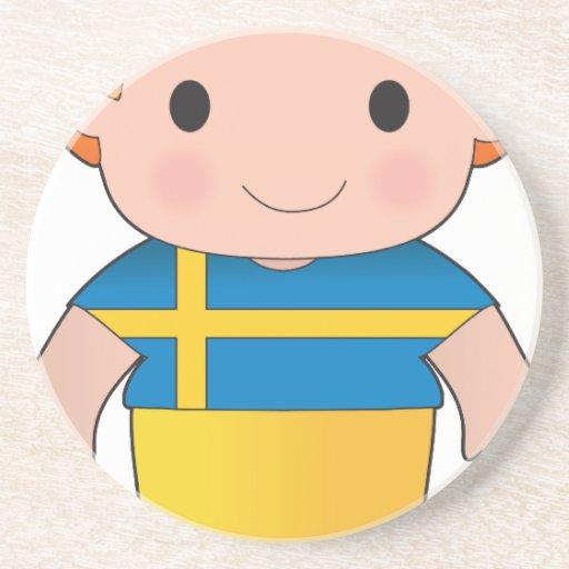 Poppy Sweden Boy Coasters
