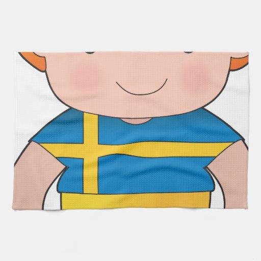 Poppy Sweden Boy Towels