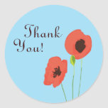 Poppy Thank You Sticker