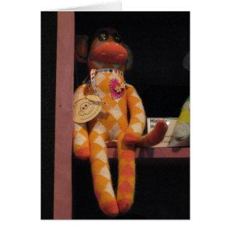Poppy the Sock Monkey Card
