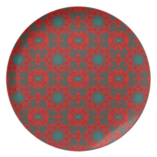 Poppy Tile Party Plates