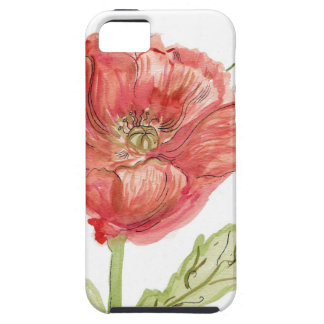 Poppy Watercolor iPhone 5 Case