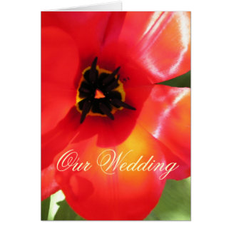 Poppy Wedding Invitation Greeting Card
