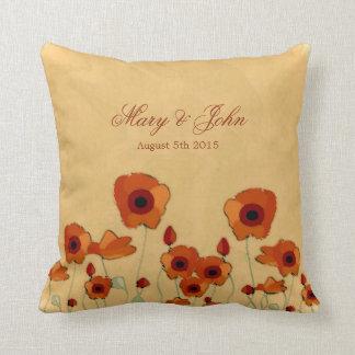 Poppy Wedding Pillow