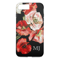 Poppy wild flower monogram iPhone 8 plus/7 plus case