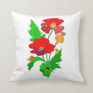 Poppy with Cartoon Bugs Pillows