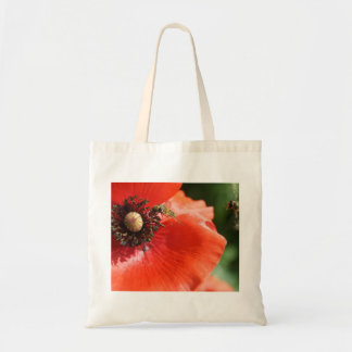 Poppy with Hover Fly Tote Bag