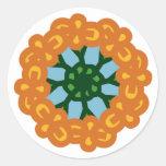 POPPY Wreath Round Sticker