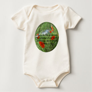 poppyball, ...grow in the grace and knowledge o... bodysuit