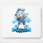 Poppycock azul alfombrilla de raton