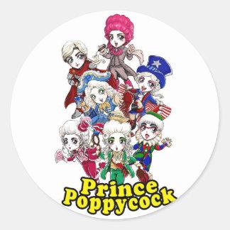 Poppycock Party Sticker