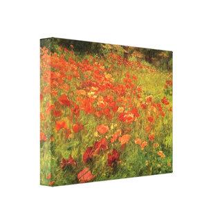 Poppyland Impresiones En Lienzo Estiradas