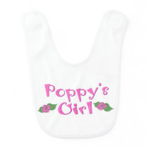 Poppy's Girl Baby Bib