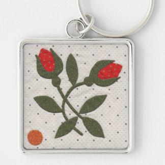 Poppy's Polka Dot Garden - Large Square Keychain