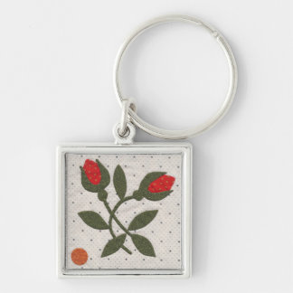 Poppy's Polka Dot Garden - Small Square Keychain