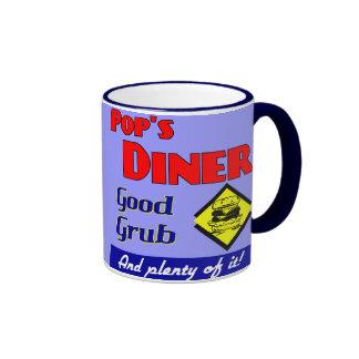 Pops Diner Retro Art Coffee Mug