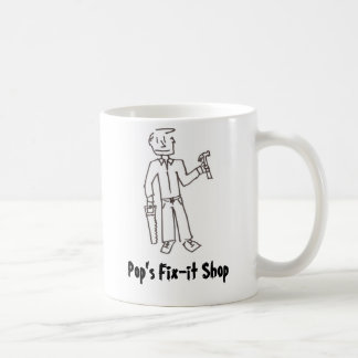 Pop's Fix-it Shop Classic White Coffee Mug
