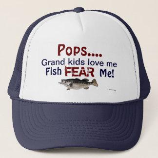 Pops...Grand Kids Love Me Fish Fear Me Hat