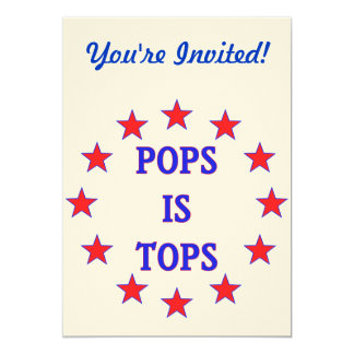 Pops is Tops for Dad Card