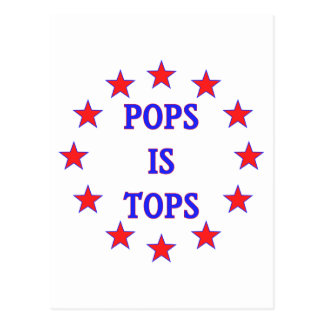 Pops is Tops for Dad Postcard