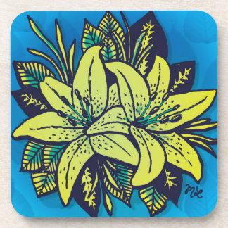 Pop's Lilies Beverage Coasters