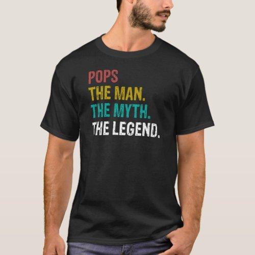 Pops The Man The Myth T_Shirt