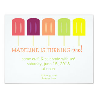 Popsicle Birthday Invitation