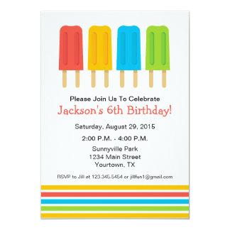 Popsicle Birthday Party Invitation