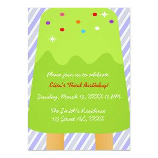 Popsicle Candyland Invitation