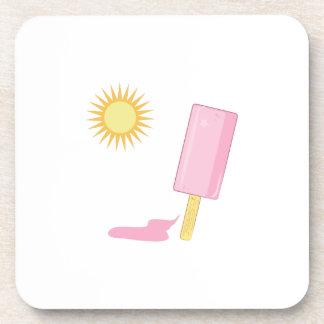 Popsicle de fusión posavasos de bebida