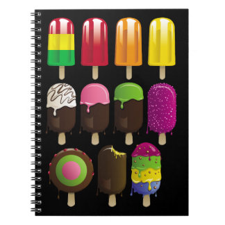 Popsicle deight spiral notebook