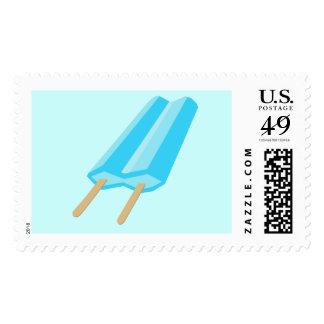 Popsicle dulce del creamsicle - azul sellos postales