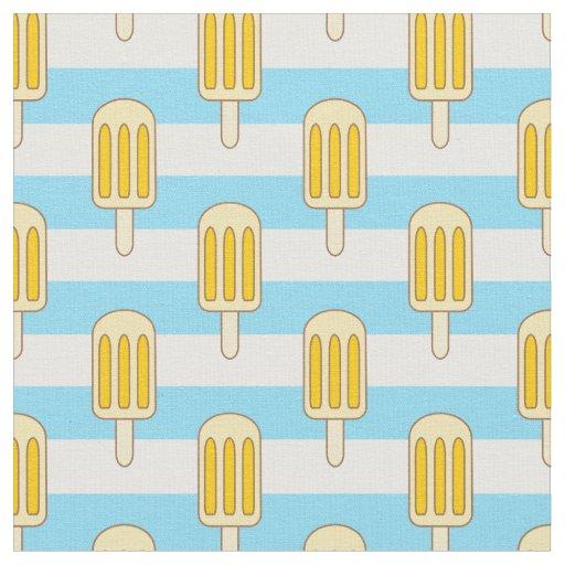 Popsicle Fabric, Ice Pops, Striped Fabric   Zazzle