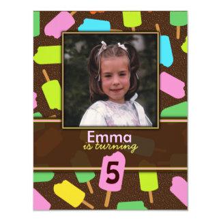 Popsicle Kids Birthday Party Invitation