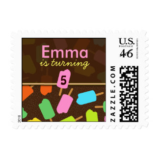 Popsicle Kids Birthday Postage