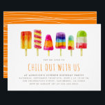 "Popsicle Party | Kids Birthday Party Invitation<br><div class=""desc"">Create your own custom Popsicle Party 